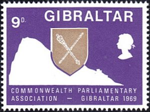 Gibraltar # 220 mnh ~ 9p Rock of Gibraltar