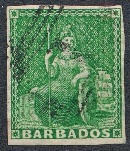 BARBADOS 5 USED, 4 MARGIN,