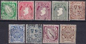 Ireland #106-12, 114, 116 F-VF Used  CV $14.70  (Z1353)