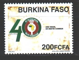 Burkina Faso. 2015. Economic Community of West African Countries. MNH.
