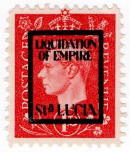 (I.B) St Lucia Cinderella : Liquidation of Empire Overprint