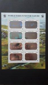Fauna WWF - Horses (hologram) - Mongolia 2000. ** MNH 2x set in sheet