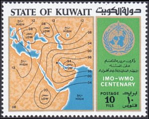 Kuwait # 578 mnh ~ 10f Weather Map