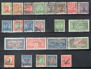 Iceland 1920-31 Selection of 23 Stamps Used CV$200