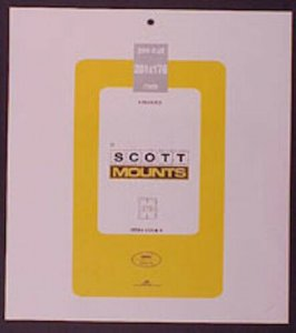 Scott/Prinz Pre-Cut Souvenir Sheets Small Panes Stamp Mounts 201x176 #1026 Clear