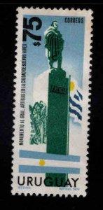 Uruguay Scott 888 Artigas lStatue stamp