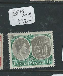 ST KITTS NEVIS (PP3012B) KGVI 1/-   SG 75  MOG