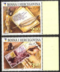 Bosnia 2008 Europa CEPT Letters set of 2 MNH