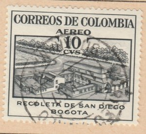 Colombia Air Post 1954 10c Fine Used A8P52F51