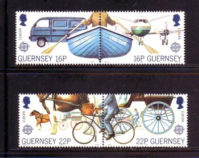 Guernsey Sc 381-4 1988 Europa Transportation stamps NH