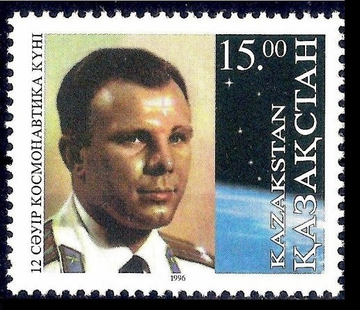 1996 Kazakhstan 116 Yuri Gagarin 3,80 €