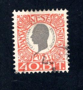 Danish West Indies #35,  F/VF,  Used,   CV $9.50 ....1630035