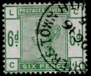 SG194, 6d dull green, FINE USED, CDS. Cat £240. CL