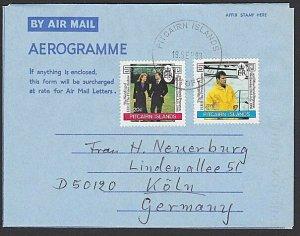 PITCAIRN 1993 Formular aerogramme used to Germany...........................K830