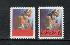 Canada #503a Extra Fine Never Hinged Black Omitted Variety **With Certificate**