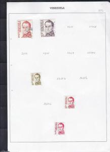 venezuela stamps page ref 18004