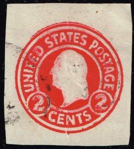 US STAMP BOB 2C RED INK ERROR CUT SQ STAMP