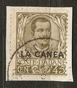 Italy Off Crete 10 SG 10 O/P AF 1906 SCV $15.50