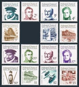 Micronesia 5-9,11-20,MNH.Michel 5.20. Early Explorers and main Features,1984.