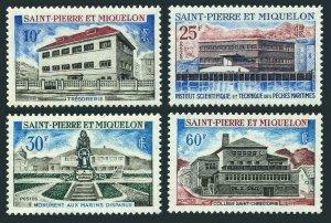 St Pierre & Miquelon 385-388,MNH.Michel 437-440. Treasury 1969,Monument,College.