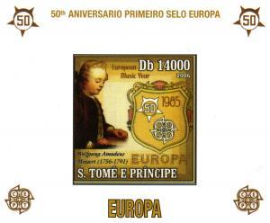 St.Thomas & Prince Europa 50th/W.A.Mozart SS Imperf.Mi.2750
