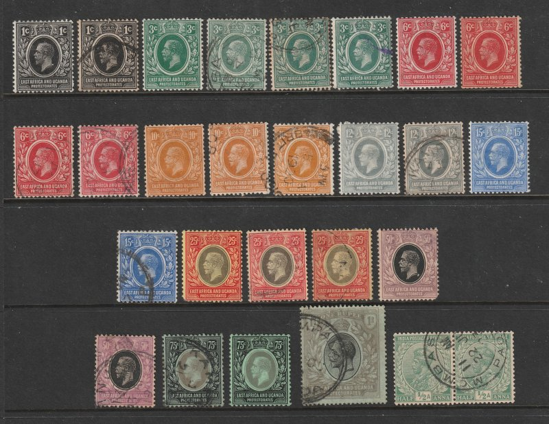 British East Africa a small lot KGV era