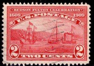 US Stamp #372 2c Carmine Half Moon Clermont USED SCV $4.75