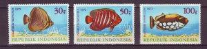 J25024 JLstamps 1972 indonesia set mnh #834-6 fish
