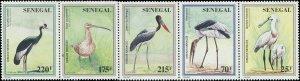 Senegal 1997 Sc 1240a Birds Curlew Crane Stork Spoonbill CV $5