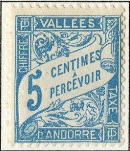 FRENCH ANDORRA J17 MH SCV $6.75 BIN $3.00 NUMERICAL