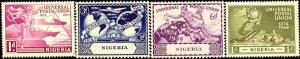 UPU, Universal Postal Union 75th Anniv, Nigeria SC#75-78 Mint set