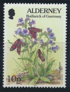 GB Alderney  SG A69 MNH  10p Six Spot Burnet Moth 1994 SC# 79 See scan