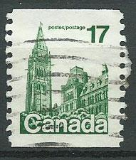 Canada SG 874d  coil stamp  Used perf 10
