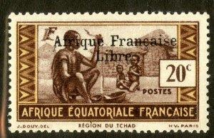 FRENCH EQUATORIAL AFRICA 139 MH SCV $4.00 BIN $1.75 CULTURE