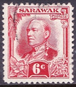 SARAWAK 1932 6 Cents Scarlet SG96 Fine Used