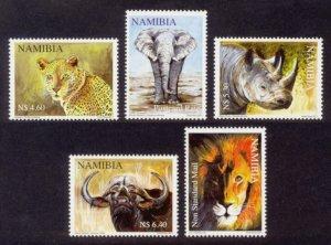 Namibia Sc# 1199-203 MNH Big 5 Animals