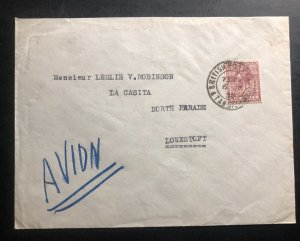 1938 Tangier Morocco British Agencies Airmail Cover To Lowestoft England