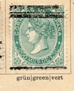 Spain 1868-69 Early Issue Fine Used 200m. NW-16559