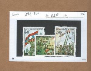 Laos  298-300  MNH