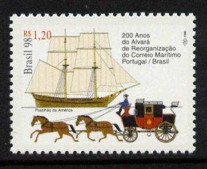 Brazil 2691 MNH Ship, Stage Coach, Reorganization of Maritime Mail