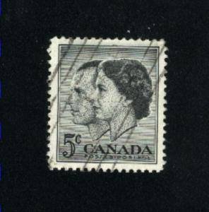 Canada  374  -1   used VF PD 1957