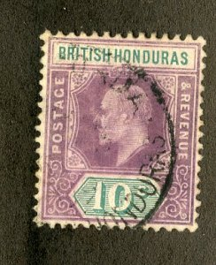 RK36356 BRITISH HONDURAS 65 XF USED SCV $18.00 BIN $11.00