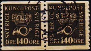Sweden. 1920 140ore(Coill Pair) S.G.118A Fine Used