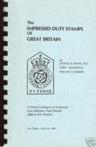 THE Impressed Duty Stamps of Great Britain
