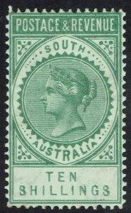 SOUTH AUSTRALIA 1886 QV POSTAGE & REVENUE 10/- PERF 11.5 - 12.5