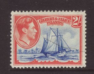 1939 Gilbert & Ellice Is 2/- Mounted Mint SG52