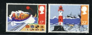 Great Britain #1107-08  used 1985 PD