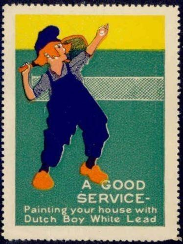 Dutch Boy White Lead Paint - Tennis Poster Stamp
