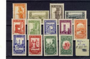 ALGERIA 1930  100th ANNIV. OF FRANCE PRESENCE IN ALGERIA  #B14-B26 $153.00 MNH