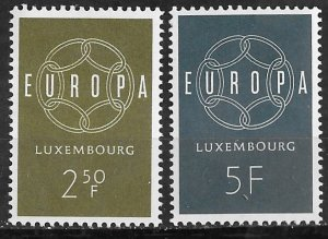 Luxembourg # 354-55 Europa - 1959 common design (2) Mint NH